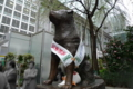 [散歩]渋谷駅、ハチ公も選挙PR中!