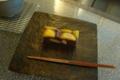 [茶][菓子]うおがし銘茶「茶・銀座」2階、銀座あけぼの「本生栗蒸し羊羹」
