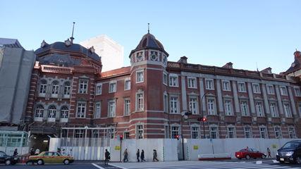 改修工事中の東京駅丸の内駅舎