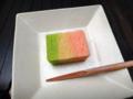 [茶][菓子]うおがし銘茶「茶・銀座」3階、清閑院「桃がさね」