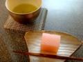 [茶][菓子]うおがし銘茶「茶・銀座」2階煎茶席、美濃忠「初かつを」
