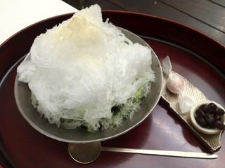 うおがし銘茶「茶・銀座」3階、大人のかき氷