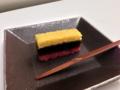 [茶][菓子]うおがし銘茶「茶・銀座」3階、とらやの「紅葉襲(もみじがさね)」