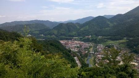 津和野の中心街方面