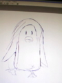 うろ覚えで描いたペンギン