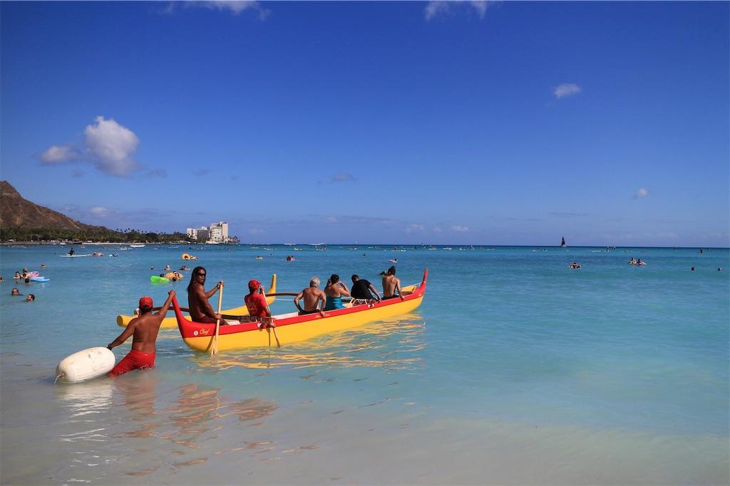 ハワイ-ワイキキビーチ写真