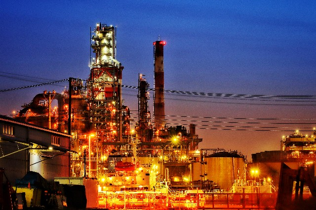 川崎工場夜景の写真