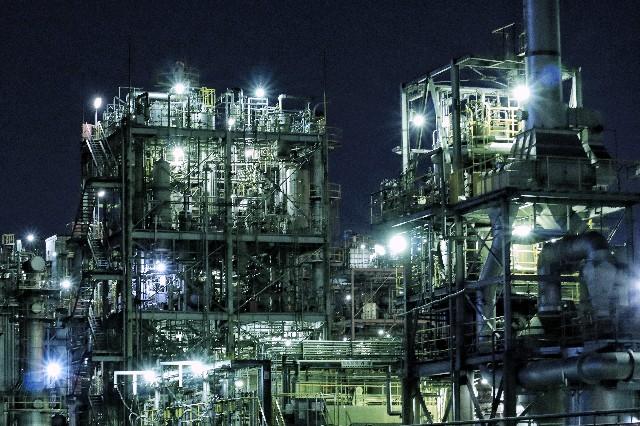 ミラーレス一眼カメラで撮影した川崎工場夜景の写真