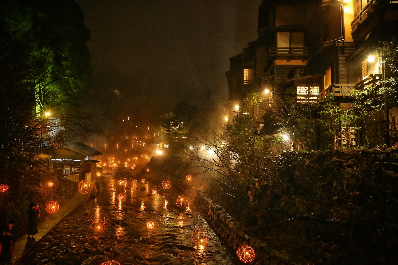 熊本県黒川温泉のイルミネーション