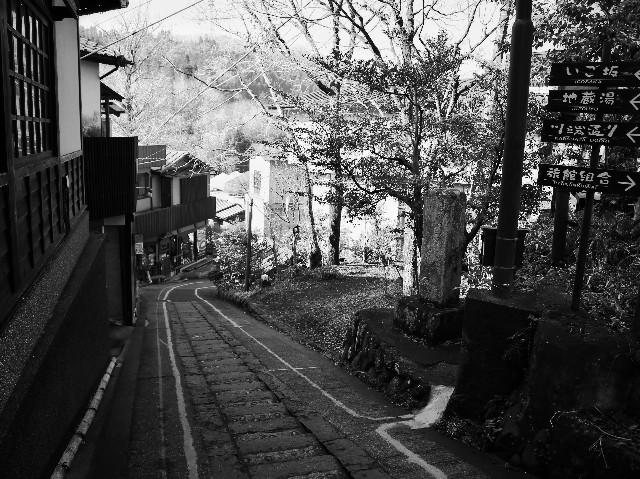 熊本黒川温泉の坂