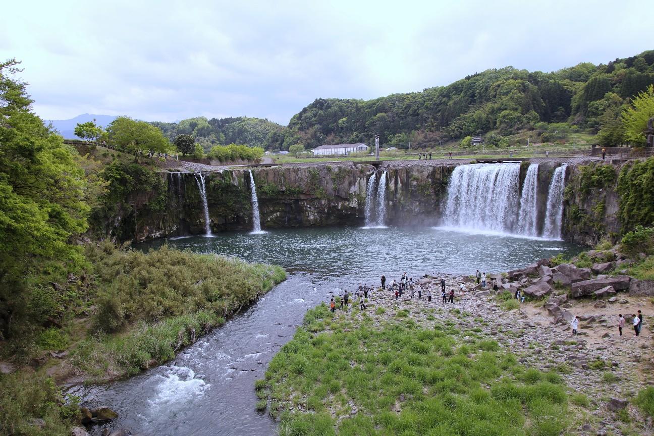 大分県で撮影した原尻の滝