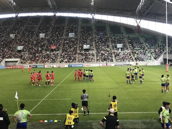 神戸製鋼ラグビー観戦