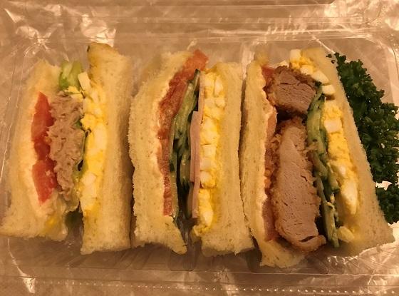 肥後橋「ビクトリー」のサンドイッチ
