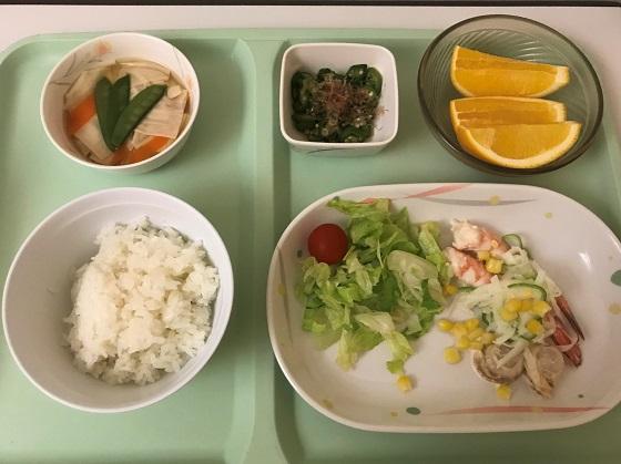 入院2日目の夕食