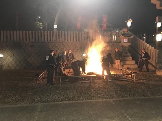 若宮 住吉神社 焚き火