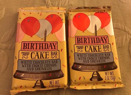 トレーダージョーズ trader joe's birthday cake bar