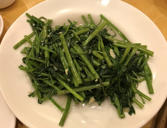 小籠包 台北・黄龍荘 野菜炒め