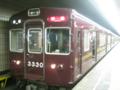 ブレています! 阪急電鉄3300系 河原町