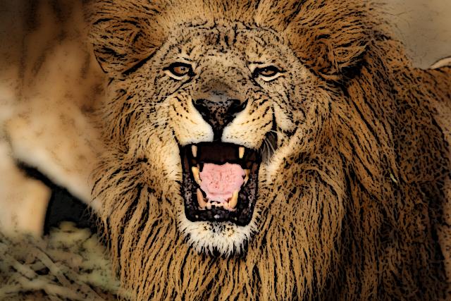 ヒョウの皮をかぶったライオン
