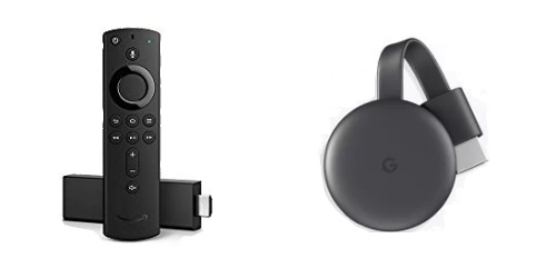 「Fire TV Stick 4K」、「Chromecast」