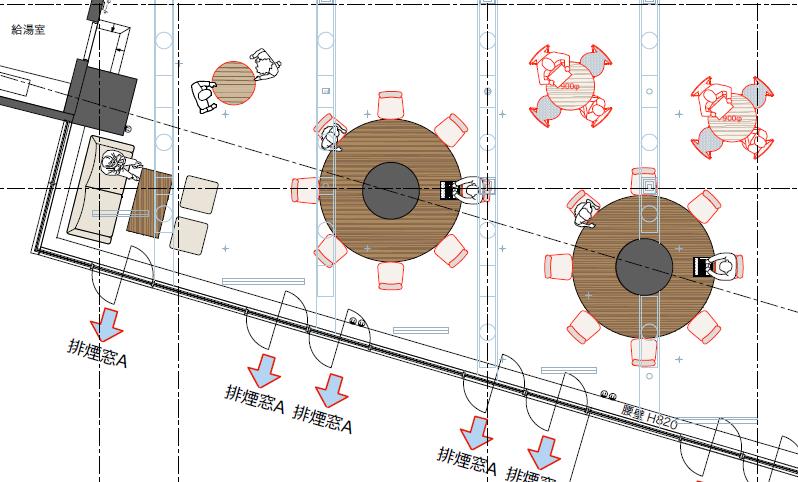 リフレッシュスペースの設計図