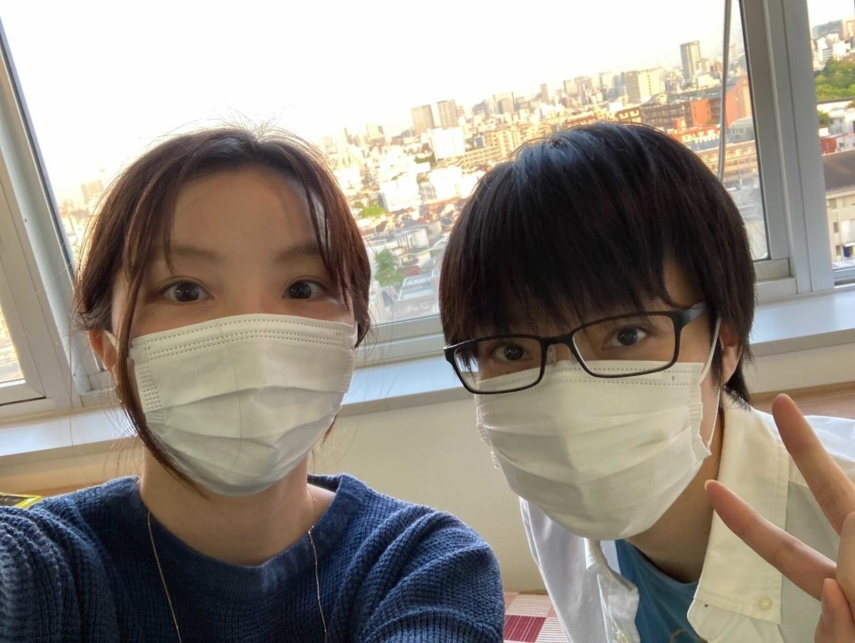 熊坂さんとセルフィ―