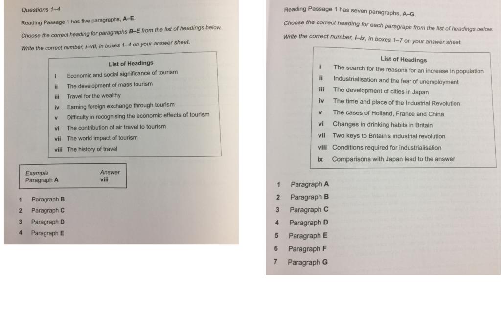 【IELTS Academic Reading(アカデミックリーディング)】各問題形式のおすすめの解き方Part2