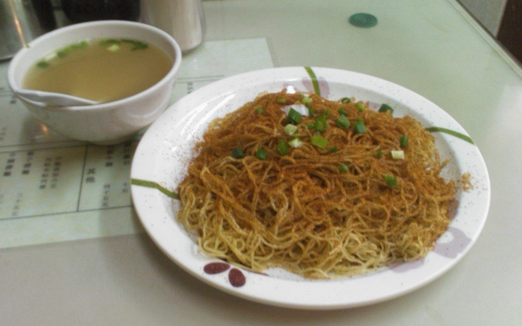 香港ミシュラン2019好到底の蝦子撈麵の写真