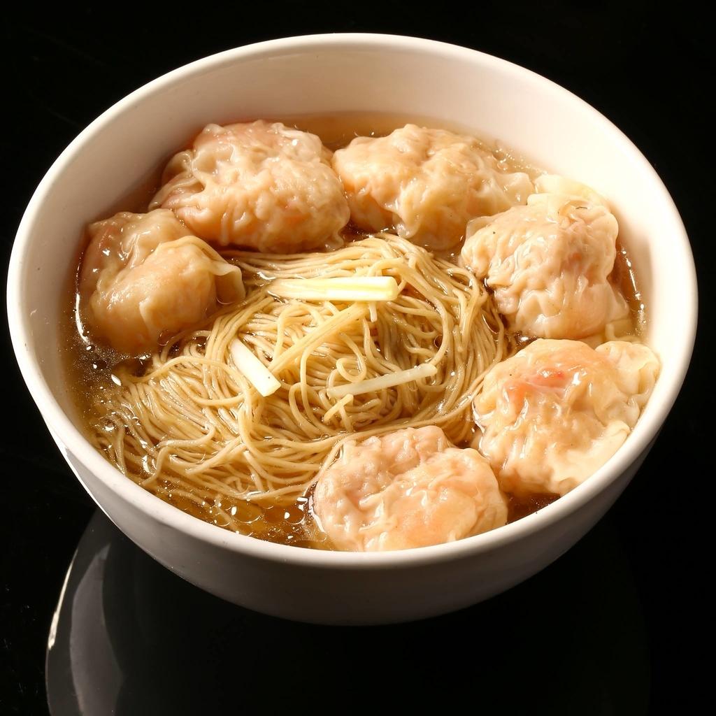 香港ミシュラン正斗のワンタン麺の写真