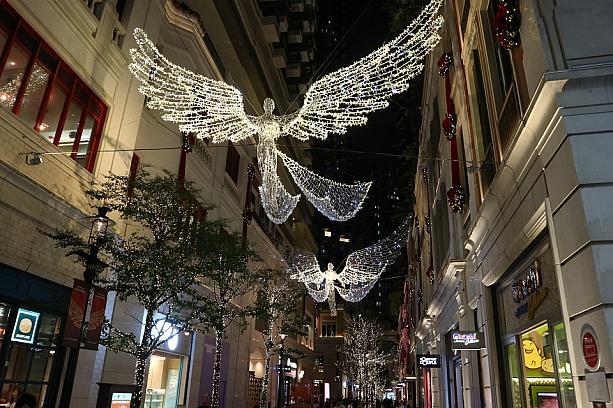 香港クリスマスイルミネーション湾仔の写真