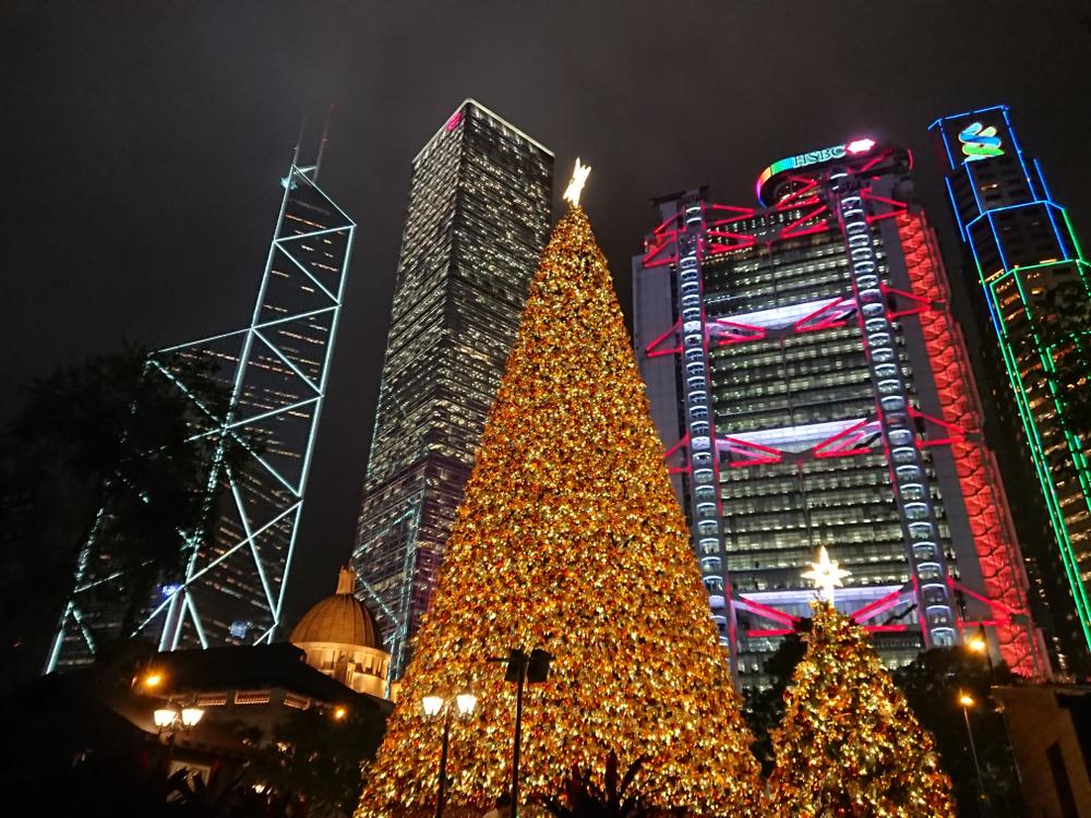 香港クリスマスイルミネーションの写真