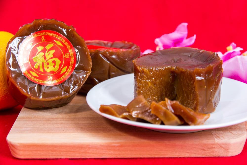 香港 旧 正月 食べ物年糕の写真
