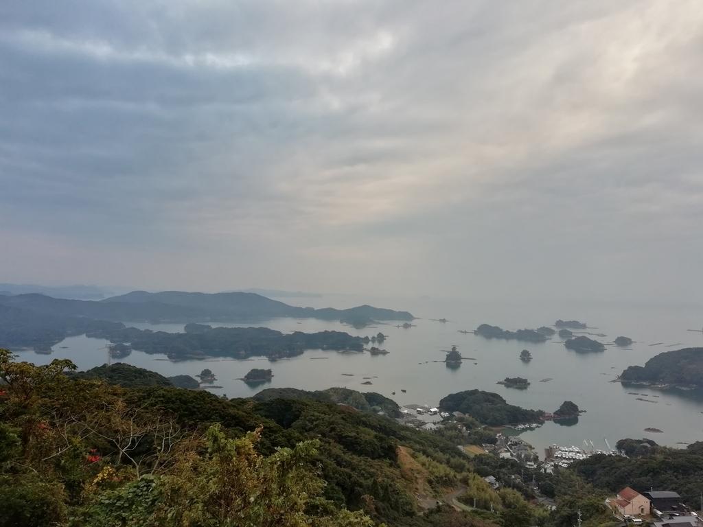 石岳展望台からの九十九島