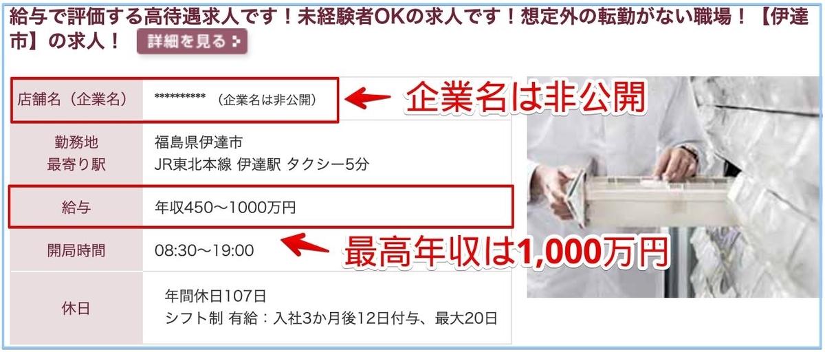 薬剤師の福島県の高額給与求人