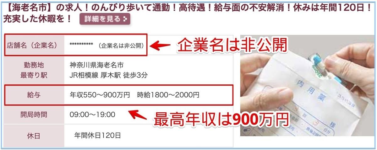 薬剤師の神奈川県の高額給与求人
