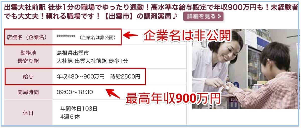 薬剤師の島根県の高額給与求人