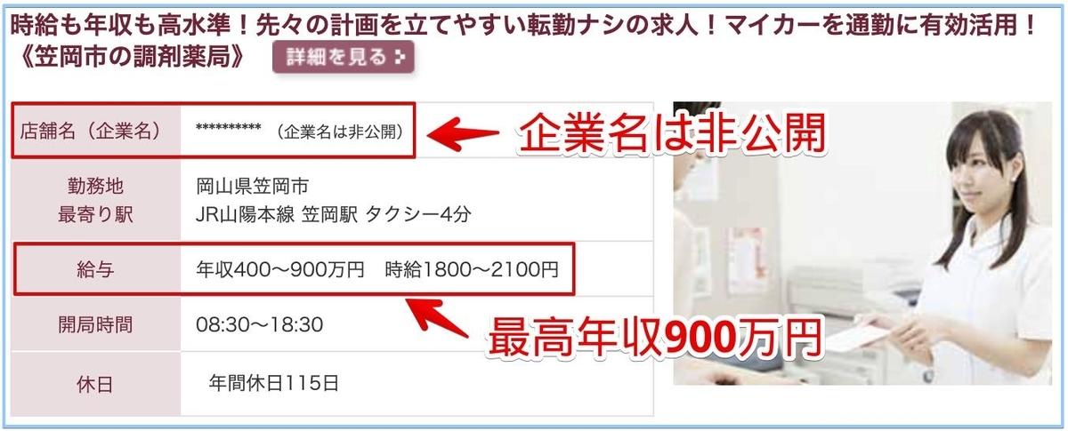 薬剤師の岡山県の高額給与求人