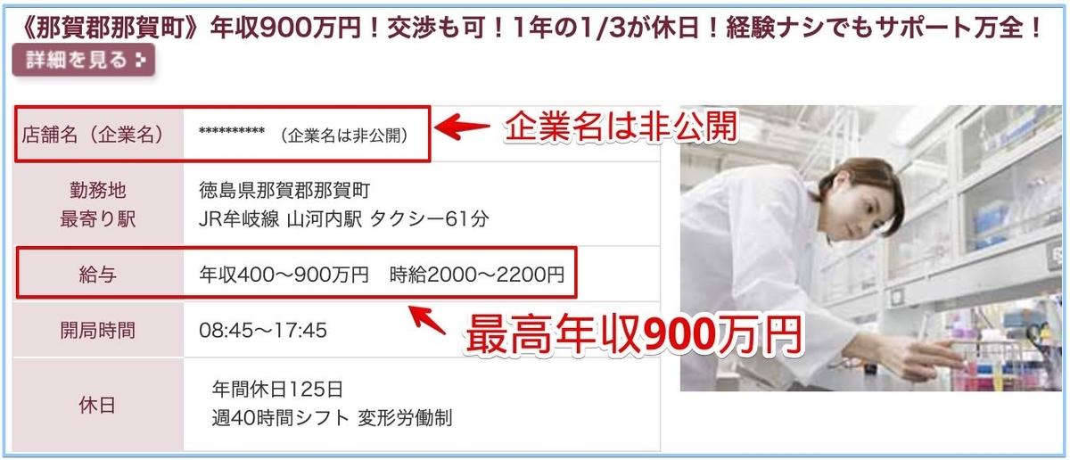 薬剤師の徳島県の高額給与求人