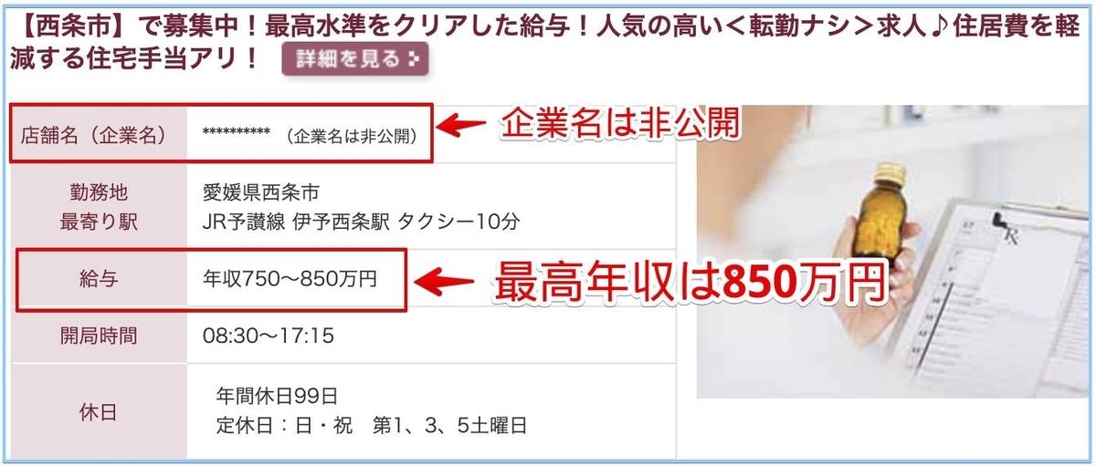 薬剤師の愛媛県の高額給与求人