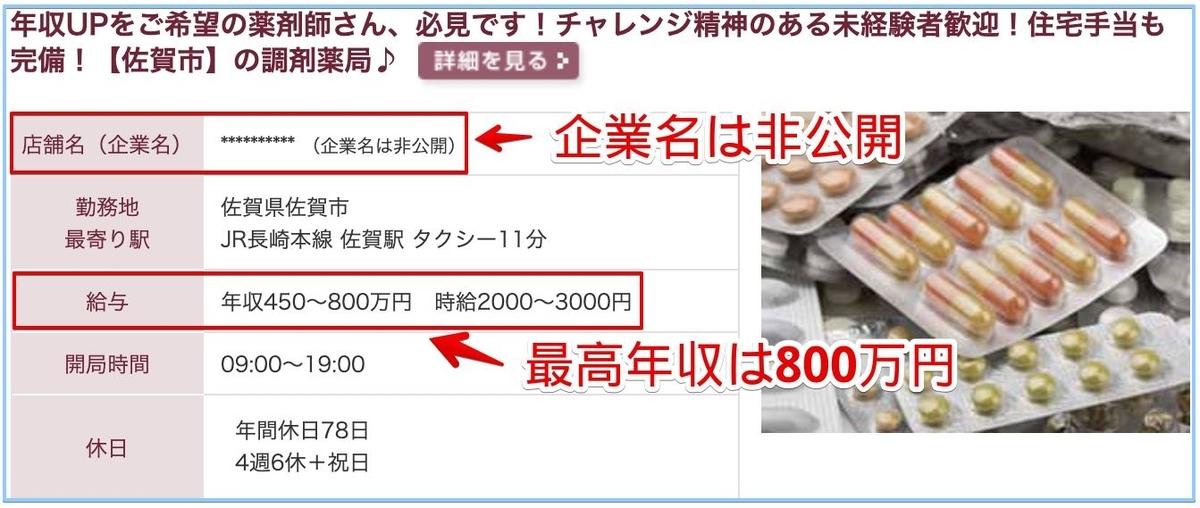 薬剤師の佐賀県の高額給与求人