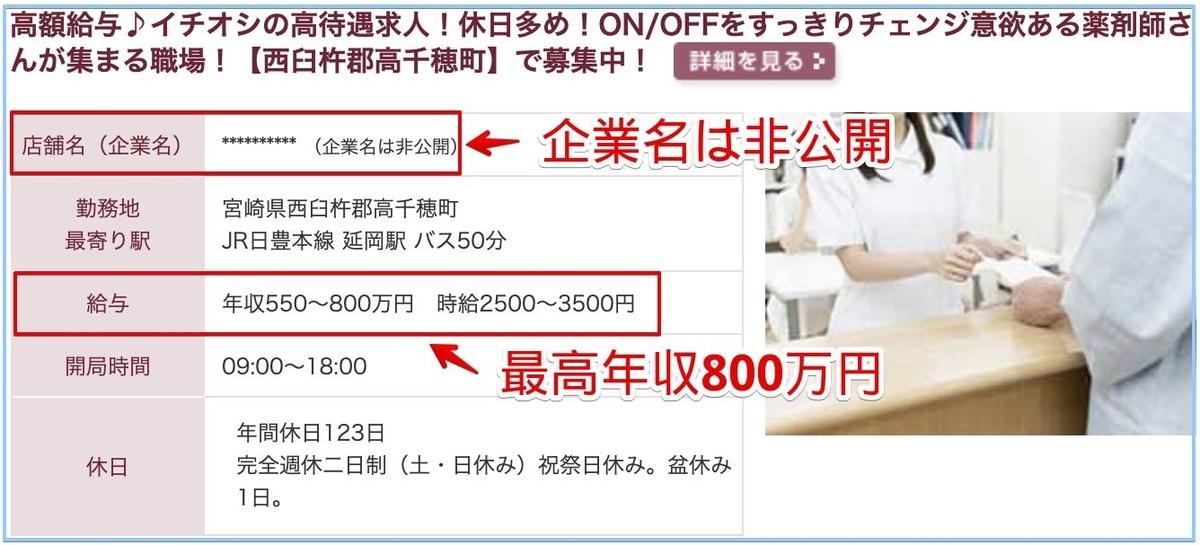 薬剤師の宮崎県の高額給与求人