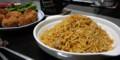 バスマティ米のビリヤニとコロッケ風サモサ