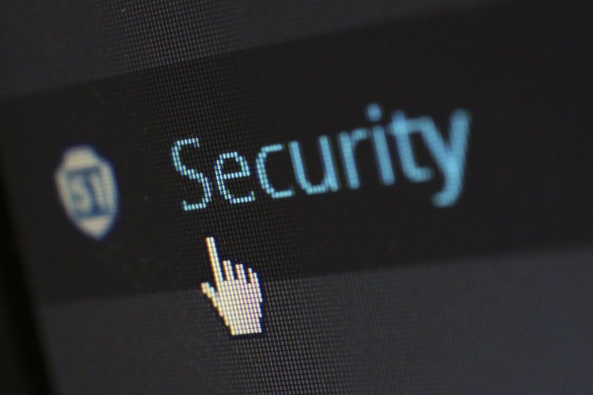 Securityと書かれた文字
