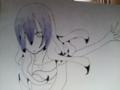 第二難関色塗り!色鉛筆でグリグリしマッシュww紫・・。下は濃く上
