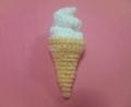 [編み物][かぎ針]余った毛糸でソフトクリーム