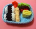[編み物]ハンバーグとエビフライ