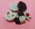 [編み物]編みクッキー