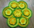[編み物]花の円座