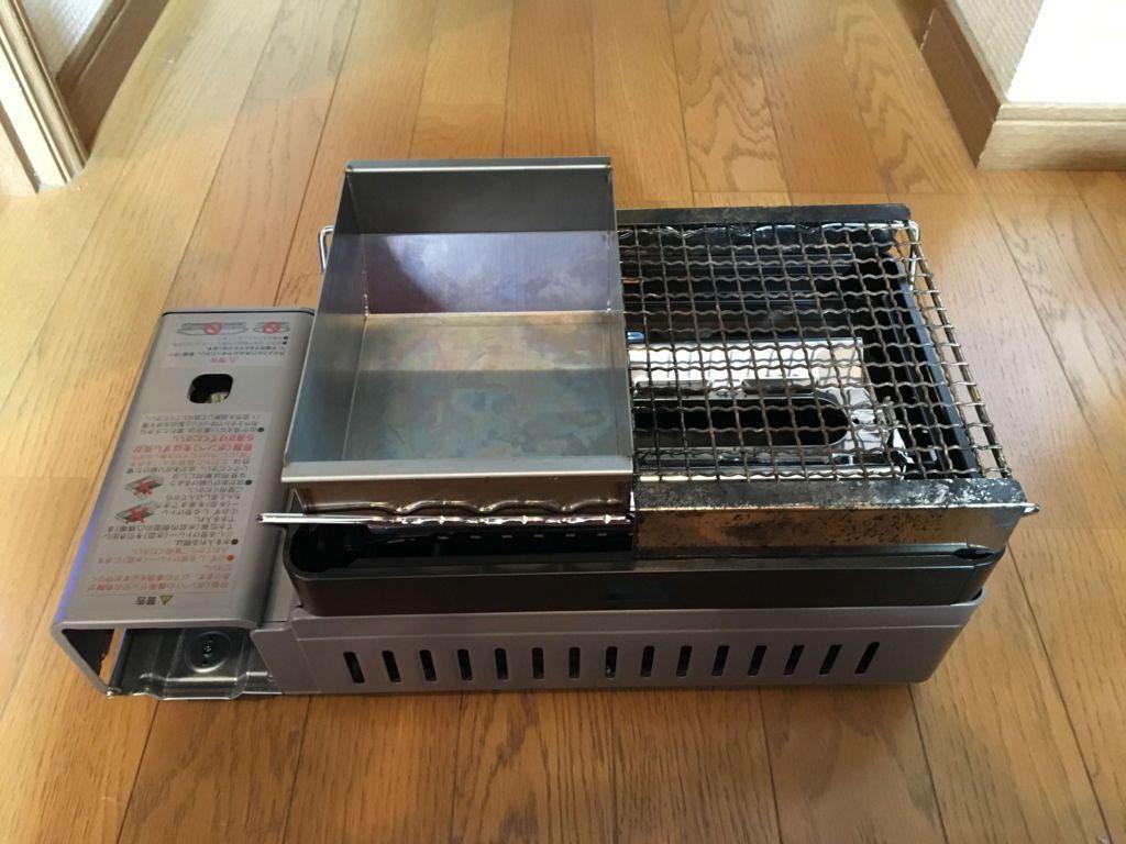 熱燗炙り台を乗せた炉ばた大将