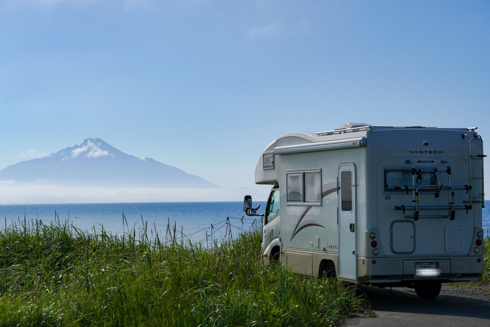 キャンピングカーと利尻島